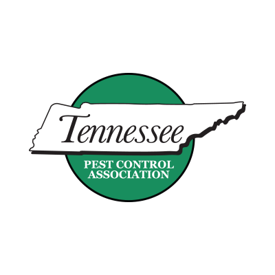 Tennessee Pest Control Association logo tennessee state shape on green circle background