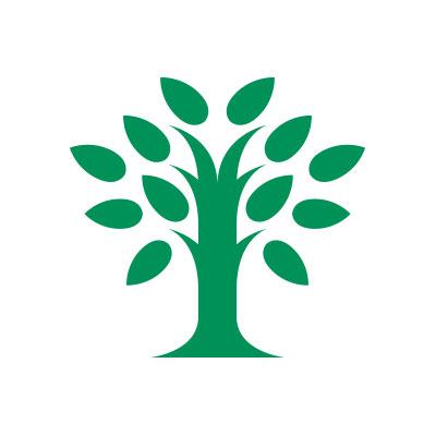 green tree logo on a white background